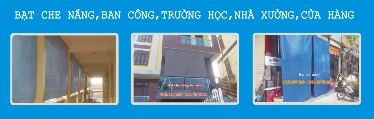baner bạt che nắng