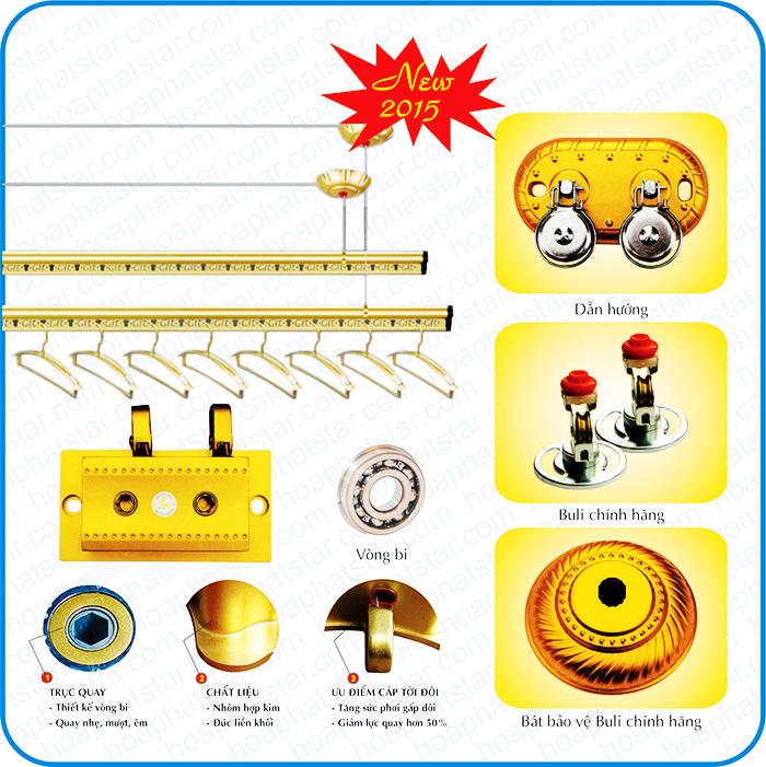 Giàn phơi thông minh hòa phát Gold  KG 250