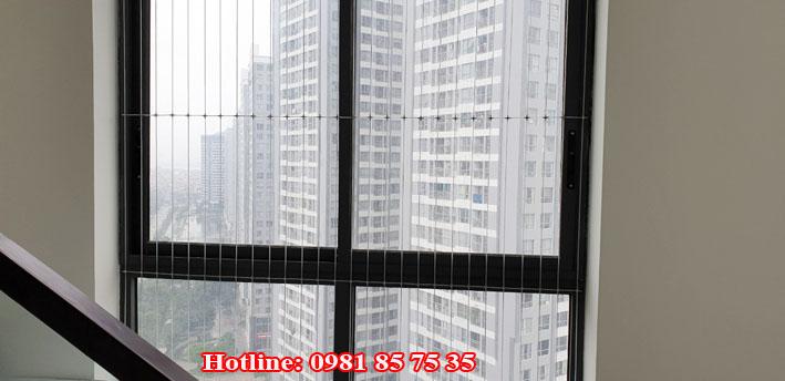 Lưới an toàn cửa sổ chung cư phòng chống tiềm ẩn nguy cơ mất an toàn